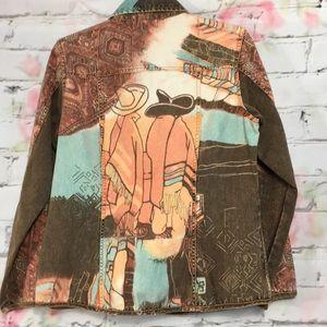 Chicos button-down lightweight jacket size medium